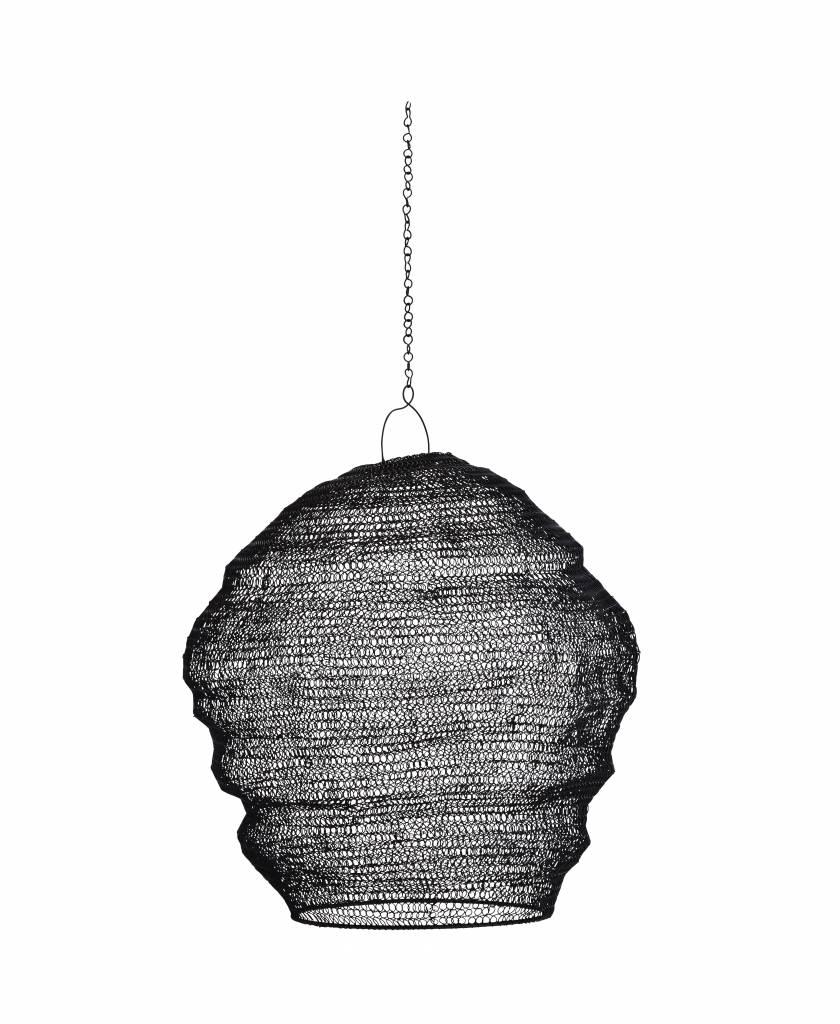 Madam Stoltz lampenkap Knitted Wire, zwart