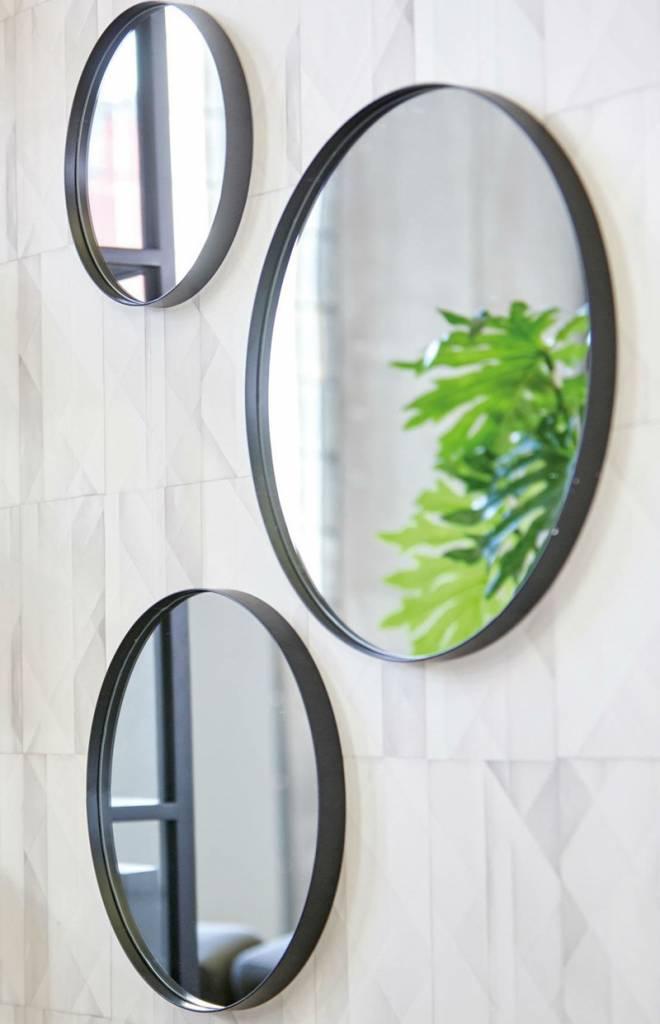 LifeStyle mirror Juma, round, black