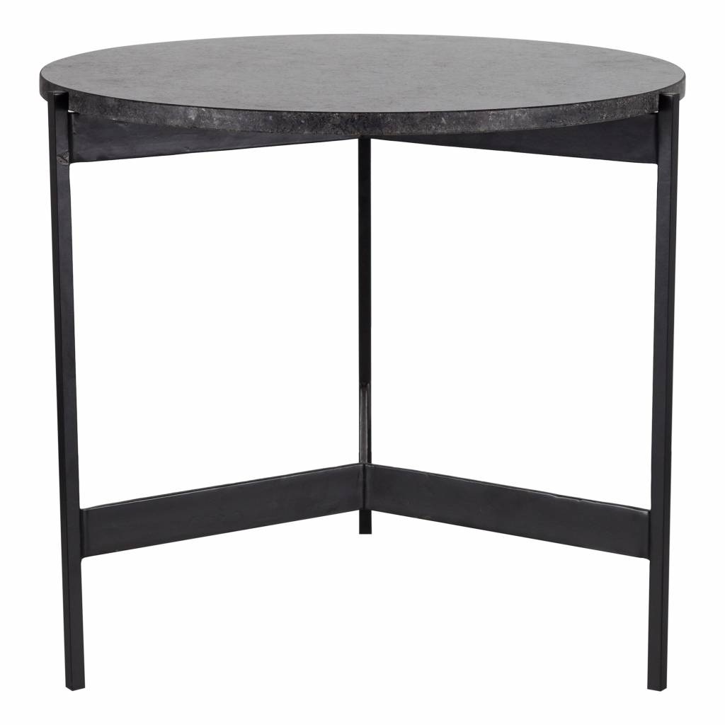 Bodilson side table Todd, marble, black
