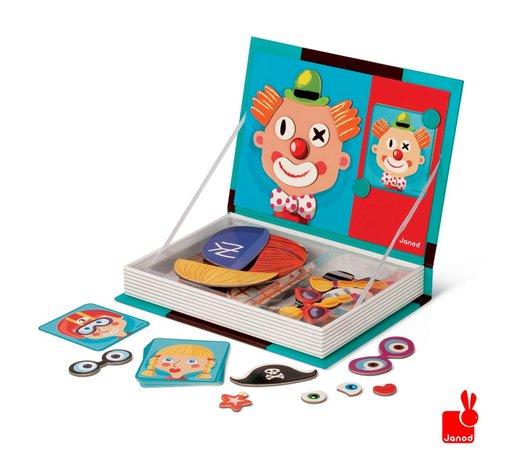 Zelf Keuken Bouwen Boek : Janod Magnetibook gezichten 67 stuks – Speelgoedwinkel PlanetHappy.nl