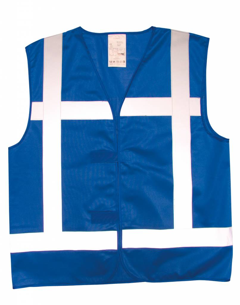 Reflectie Vest blauw in 4 maten leverbaar