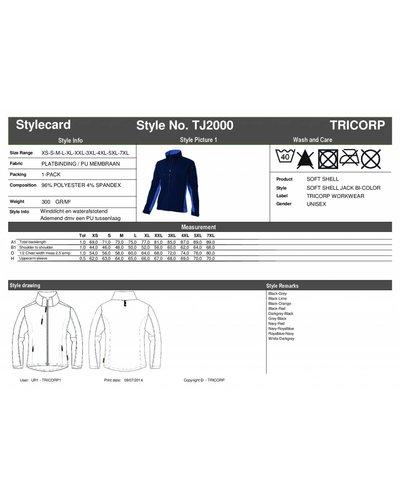 Tricorp TJ2000 Witte SoftShell Jas voor schilders
