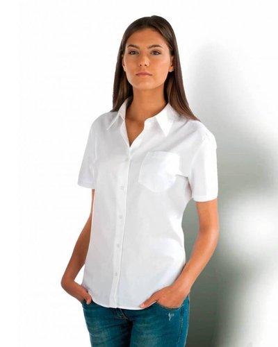 Kariban Dames Overhemd met korte mouwen