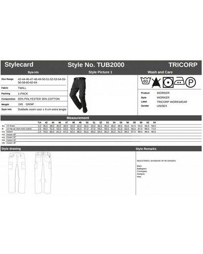 Tricorp Werkbroek TUB2000 voor de industrie in diverse kleuren