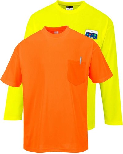 Portwest S57 Day-Vis T-shirt korte of lange mouw