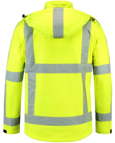 Tricorp TJR3001 Reflecterende Soft Shell Jas geel