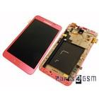 Samsung Galaxy Note N7000 Intern Beeldscherm + Touchpanel Glas, Buitenvenster Raampje + Frame Roze GH97-12948C | Bulk vk4 r1