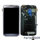 Samsung Galaxy Note 2 N7100 Internal Screen + Digitizer Touch Panel Outer Glass + Frame Grey GH97-14112B | Bulk vk4 r2