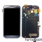 Samsung Galaxy Note II LTE N7105 Interne Beeldscherm + Digitizer, Displayglas, Touchpanel Glas, Buitenvenster + Frame Grijs GH97-14114B |Bulk vk4 r1