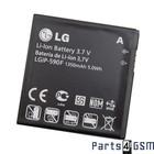 LG LGIP-590F Batterij, E900 Optimus 7, 1350mAh, SBPL0102102 | Bulk
