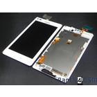Sony Xperia L C2105 Interne Beeldscherm (LCD)+ Touchscreen + Frame Wit 78P5320002N | Bulk 6/2