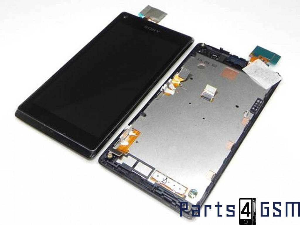 Sony xperia l c2105 lcd display touchscreen frame black sony xperia l c2105 lcd display touchscreen frame black 78p5320001n bulk reheart Choice Image