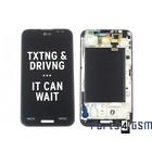 LG Optimus G Pro E985 Interne Beeldscherm (LCD)+ Touchscreen + Frame Zwart ACQ86379201 | Bulk 7/5