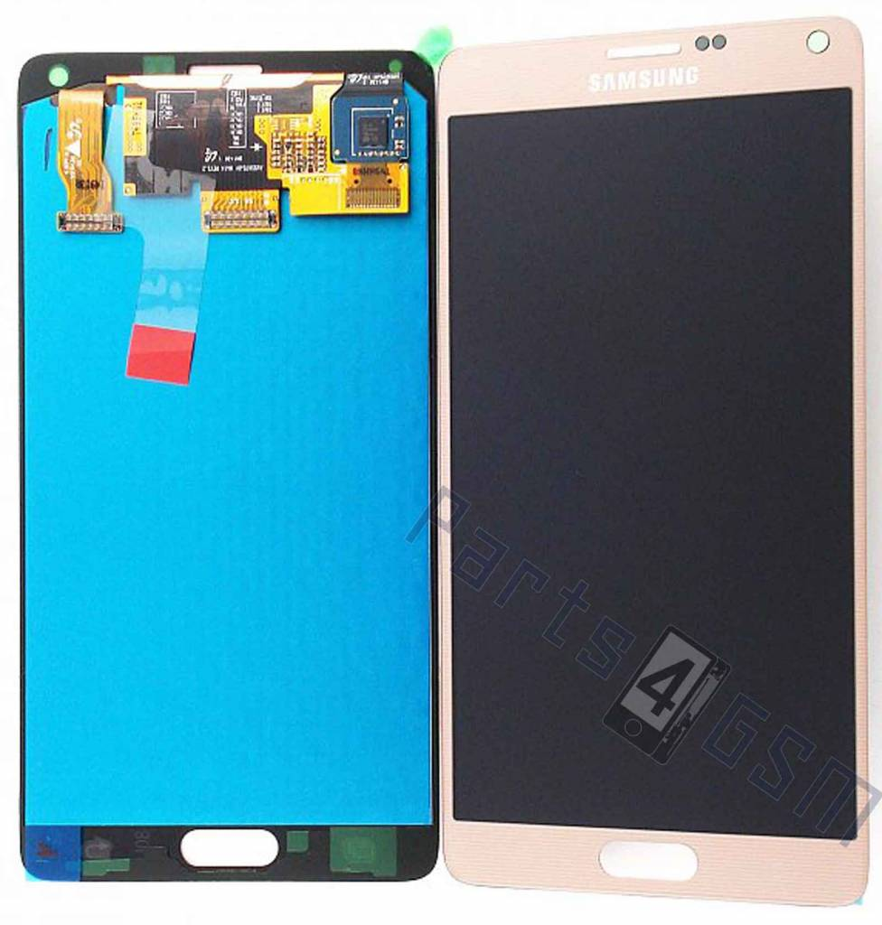 Samsung N910F Galaxy Note 4 LCD Display Module, Gold, GH97 ...