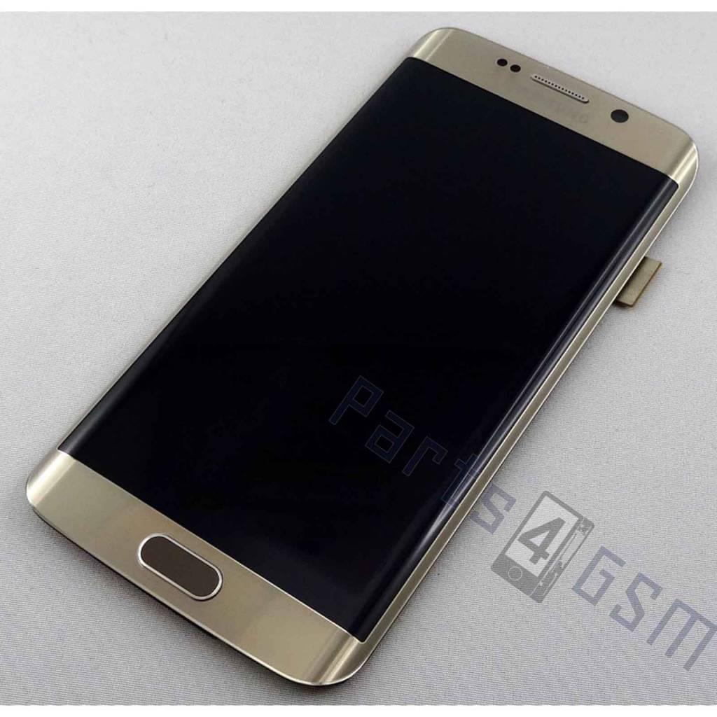 Samsung G925f Galaxy S6 Edge Lcd Display Modul Gold Gh97 17162c