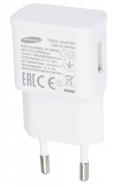 Samsung USB-Ladegerät A310F Galaxy A3 2016, Weiß, GH44-02762A, EP-TA50EWE, 5.0V, 1.55A