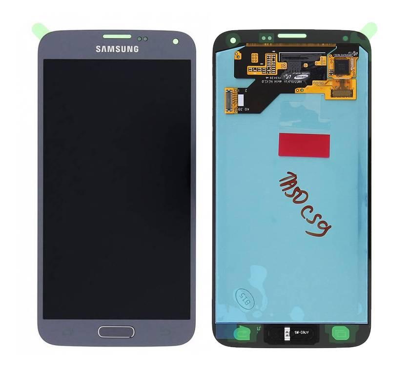 Samsung LCD Display Modul G903F Galaxy S5 Neo, Silber, GH97-17787C