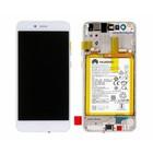 Huawei LCD Display Modul P10 Lite (Warsaw-L21), Weiß, 02351FSC, Incl. Battery  HB366481ECW 3000mAh