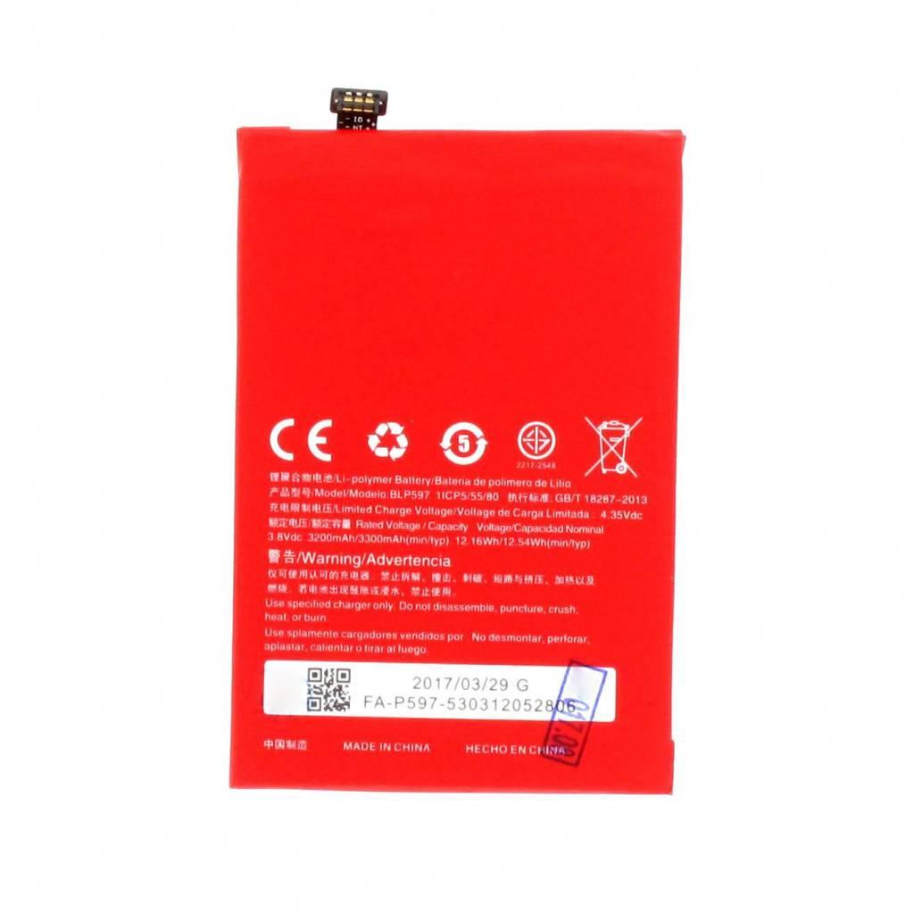 Oneplus Battery Blp597 Red 3200 3300mah Op231303 Parts4gsm Nokia Asha 501 Dual Sim Resmi Bright