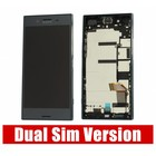 Sony Xperia XZ Premium Dual G8142 LCD Display Module + Touch Screen Display + Frame, Zwart, 1307-9885
