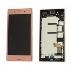 Sony Xperia XZ Premium G8141 LCD Display Modul + Touch Bildschirm + Rahmen, Rosa, 1307-9873
