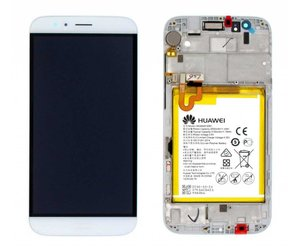 Huawei G8 (RIO-L01) LCD Display Module, Champagne/White, 02350KJG - Parts4GSM