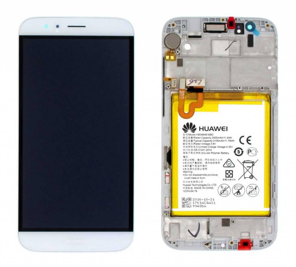 Huawei G8 (RIO-L01) LCD Display Module, Champagne/White, 02350KJG