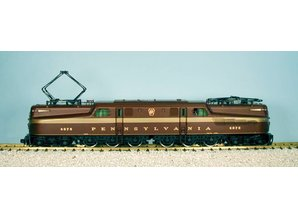 USA TRAINS GG1 Pennsylvania tuscan mit 5 Goldstripes (Ganzmetallmodell)