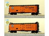 "USA TRAINS 40 ft. Refrigerator Car Santa Fe ""El Capitan"" with Map"