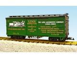 USA TRAINS Wood Box Car Lima Locomotive Co./Heisler