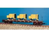 USA TRAINS Generator Flat Car Southern Pacific beladen mit 3 Motoren