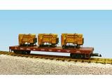 USA TRAINS Generator Flat Car Great Northern beladen mit 3 Motoren