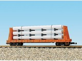 USA TRAINS Pipe Load Flat Car Rio Grande beladen mit Rohren