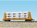 USA TRAINS Pipe Load Flat Car Union Pacific beladen mit Rohren
