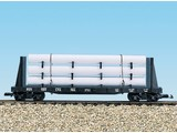 USA TRAINS Pipe Load Flat Car Pennsylvania beladen mit Rohren