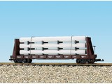 USA TRAINS Pipe Load Flat Car Burlington beladen mit Rohren