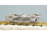 USA TRAINS Die-Cast Passenger Car Truck mit Metal Wheels silber
