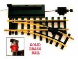 USA TRAINS linke elektr. Weiche mit Schalter und Signal