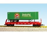USA TRAINS Piggyback Flatcar Red Ass Ale mit Trailer