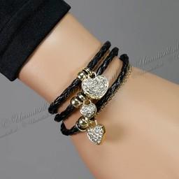Sweet Heart Bracelet Zwart