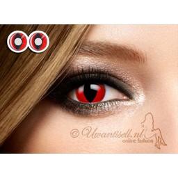 Crazy-Lenzen: Red Cat Eye Lenzen