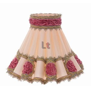 Vloerlamp Kap Klassiek Rokkap Rozet Roze 72cm