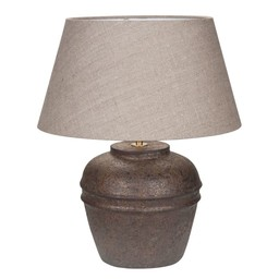 Tafellamp Kreta Vintage Linnen Grey