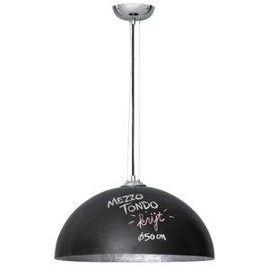 Hanglamp Mezzo Tondo Krijt Zwart / Zilver 50cm Ø
