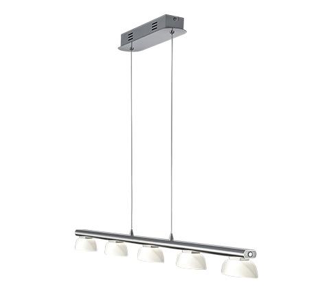 Hanglamp Senator RVS Led 5 Lichts incl. Dimmer