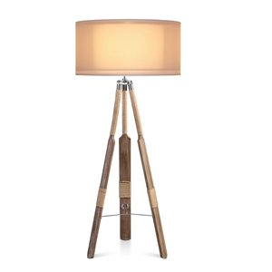 Vloerlamp Roeispaan Organza kap creme 60cm