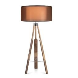 Vloerlamp Roeispaan Organza kap bruin 60cm