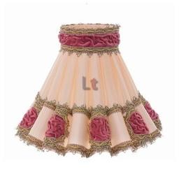 Rokkap Klassiek Rozet Roze 55cm
