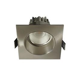 Inbouwspot LED Vierkant Verdiept Staal IP44