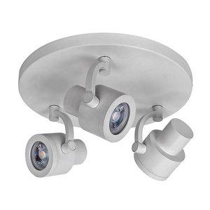 Spot Alto Mat Wit 3 lichts LED
